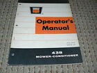 Oliver White Tractor 438 Mower Conditioner Operator's Manual