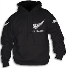 Kiwi All Blacks New Zealand Mens Womens Hooded Top Hoody NZ Silver Fern Rugby
