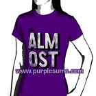 The ALMOST:Big Block Purple:Ladies/Girls Shirt NEW:Size 8