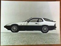 PORSCHE 924 TURBO PRESS PHOTOGRAPH CIRCA 1981 BLACK & WHITE