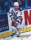 Brian Leetch SIGNED 8x10 Photo New York Rangers PSA/DNA AUTOGRAPHED