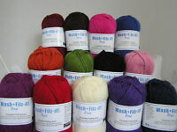 SMC WASH + FILZ-IT! Fine x 50g ~ 100% Wool ~ Felting Wool for Knitting Many Cols