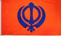 SIKH FLAG 5X3 PUNJAB PUNJABI INDIA INDIAN ASIAN flags GURU NANAK RELIGION