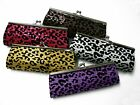 New Elegant Leopard Print Sequin Clutch Purse Handbag