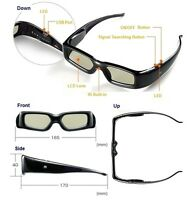 2 pairs 3d Universal Active Shutter Glasses for Panasonic TV , Brand New !