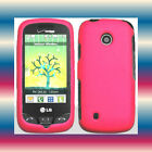 Pink LG Cosmos Touch VN270 Faceplate Snap-on Phone Cover Hard Shell Case Skin
