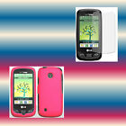 Screen Protector+Pink LG Cosmos Touch VN270 Snap-on Phone Cover Hard Shell Case