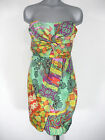 NWT Juniors TEEZE ME Jade & Yellow Abstract Print Strapless Cocktail Dress $79