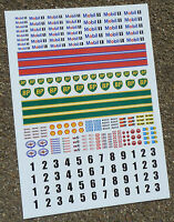 SLOT CAR SCALEXTRIC 1/32nd scale Classic Race stickers decals