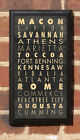 Cities of Georgia Vintage Style Wall Plaque/Sign