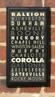 Cities of North Carolina Vintage Style Wall Plaque/Sign