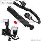 Dual-Hot-Shoe E-TTL II Cord Cable f Canon Speedlite+Camera Holder/Flash Bracket