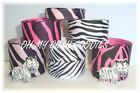 12Y+ RESINS BLACK WHITE ZEBRA HOT PINK GROSGRAIN RIBBON MIX 4 HAIRBOW BOW