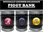 COLLEGE PIGGY BANK-COLLEGE LOGO PIGGY BANK-COLLEGE BARRELL KEG BANK-SCHOOLS A-K