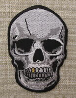SKULL WITH  GOLD TOOTH   Iron On/Sew On Patch Emo Goth Punk Rock