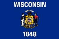 WISCONSIN U.S. STATE FLAG 5X3 FEET USA American MILWAUKEE MADISON America U.S.A.