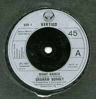 """Graham Bonnet-Night Games/Out On The Water UK 7"""" EX Cond"""