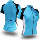 Carme Cycling Jersey for women, girls, ladies in Blue White and Black