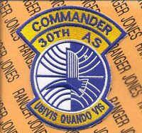 USAF Air Force 30th AIRLIFT SQUADRON AS ALS Commander patch