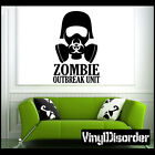 Zombie Outbreak Unit 1 Vinyl Decal Car or Wall Sticker Mural Living Dead Zombies