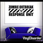 Zombie Response Unit 01 Vinyl Decal Car or Wall Sticker Mural X Large