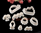 9PCS Ocean Beach Shape Fondant Cake Cookie Plunger Cutter For Home use