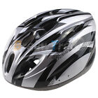 New Men Bicycle Adjust Helmet PVC EPS Black with Silver Bike Cycling Adult Visor