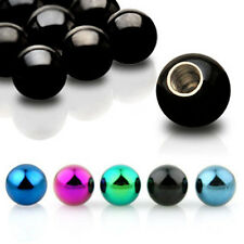 5 Multi-Coloured Spare Balls - Belly / Nipple / Tragus / Labret  / Tongue Bars