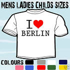 I LOVE HEART BERLIN T-SHIRT ALL SIZES & COLOURS