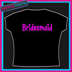 HEN NIGHT PARTY TOP TSHIRT BRIDESMAID WEDDING PERSONALISED FRONT & BACK