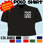 WORK WEAR PERSONALISED T POLO SHIRT EMBROIDERED FULL COLOUR LOGO X5 TOPS