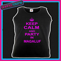 KEEP CALM AND PARTY IN MARBELLA CLUBBING HEN PARTY UNISEX VEST TOP