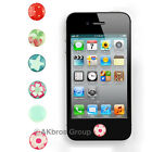 6pcs Home button Sticker Sunflower GS for Apple iPhone 4G 4S   3G 3GS itouch4