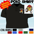 PERSONALISED EMBROIDERED BRICKLAYER UNIFORM WORKWEAR T POLO SHIRT