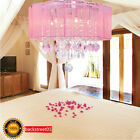 New Drum Shade Crystal Ceiling Chandelier Pendant Light Fixture Lighting Lamp