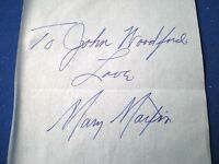 Mary Martin - Actress   - vintage hand signed paper