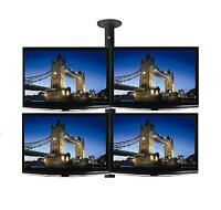 """Four x 26"""" LCD & LED TV / Monitor Single Pole Ceiling Mount - Professional Grade"""