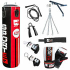 BOOM Pro 4ft Boxing Punch Bags,MMA Bag Gloves Fitness,Wall Bracket Training Set