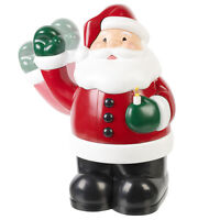 Festive Waving Santa with Light Up LED Candle Father Christmas Decoration Xmas