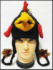 Animal rooster beanie Pilot Ski Hat cap handmade 100% Wool with Fleece lining!