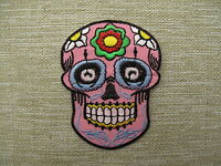 FLOWERED SKULLS   Embroidered Iron Sew On Patches  Emo Goth Punk Rock