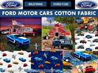 FORD MUSTANG COTTON FABRIC-FORD COTTON FABRIC-FORD MOTOR CARS COTTON FABRIC-