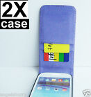 2 x Purple Samsung Galaxy S3 i9300 Slim Wallet Credit Flip Leather Pouch Case