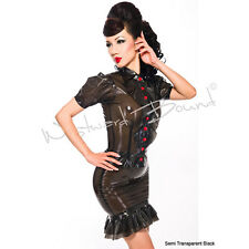 STUNNING RUBBER LATEX PIN UP SEXY R1348 SKIRT ONLY **BLACK** Last few at price