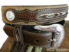 Nocona Western Mens Belt Top Hand Southwest Coffee Distressed N2475702