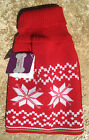UGLY PET SWEATER ~ FOR DOGS/CATS ~(S, M) ~ CHRISTMAS SNOWFLAKE HOLLY RED