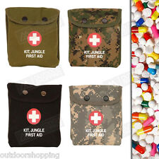 """Canvas Snap Pouch Jungle First Aid Kit - Belt Hooks/Loops, 6"""" x 5"""" x 1.25"""""""