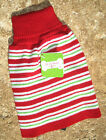 UGLY PET SWEATER ~FOR DOGS/CATS ~(S, M)~ CANDY CANE RED / GR ~ CHRISTMAS CLOTHES