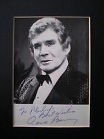 Gene Barry - Actor - vintage hand signed MOUNTED publicity photo
