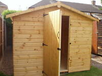QUALITY WOODEN GARDEN STORAGE SHEDS VARIOUS SIZES & CLADDING
